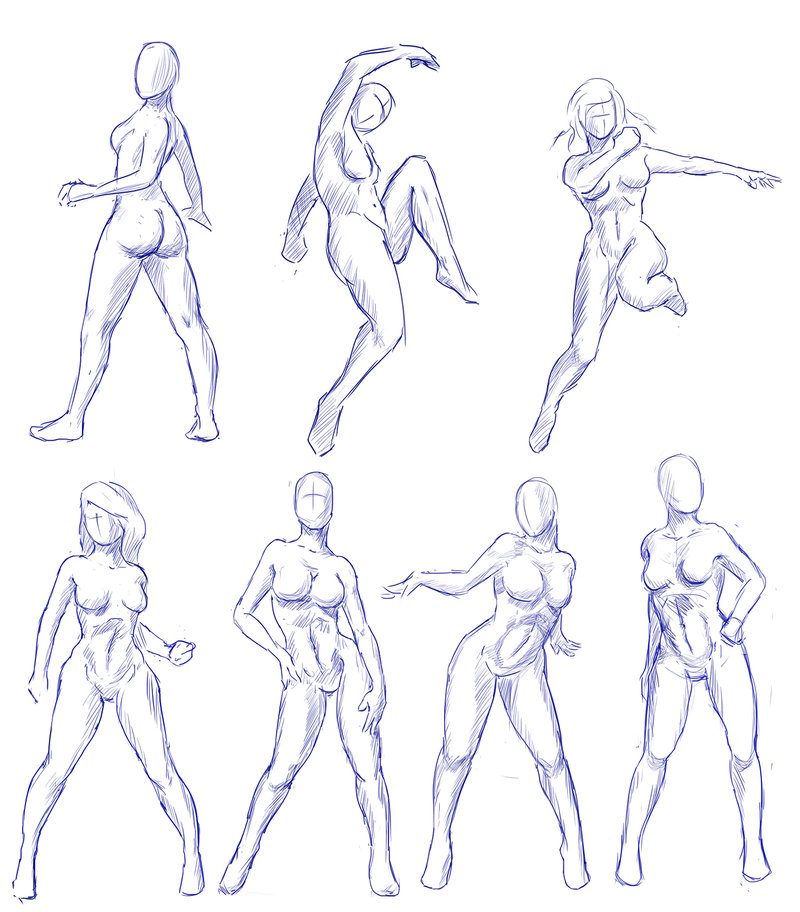 800x912 Female Gesture Practice By Caynez