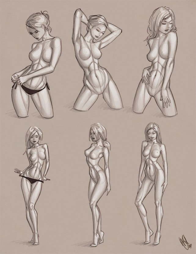 Female Body Drawing at GetDrawings.com | Free for personal use ...