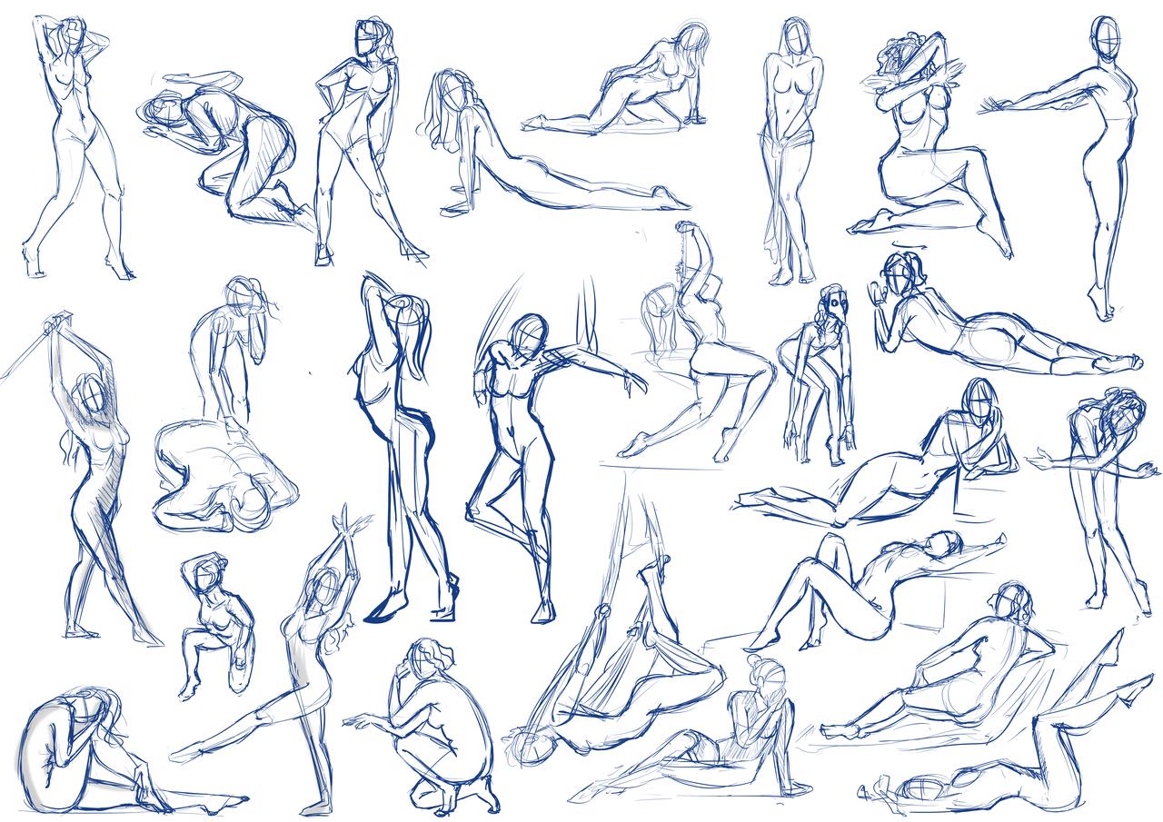 1280x905 Drawing Female Body Poses Female Pose Studyfishiebug