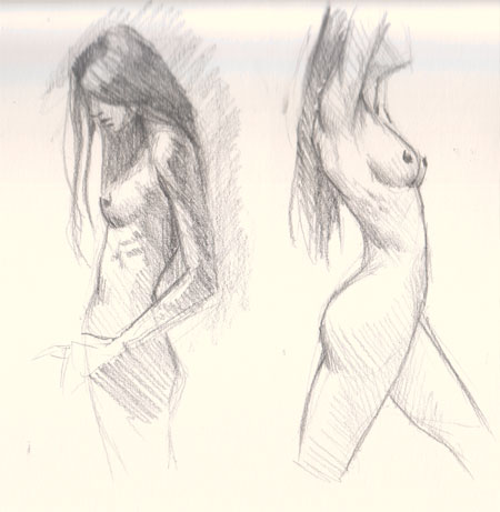 450x461 Drawing Woman Body