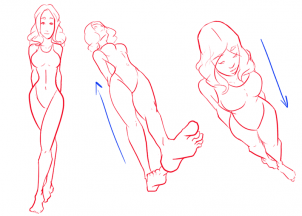 302x216 How To Draw Female Figures, Draw Female Bodies, Step By Step