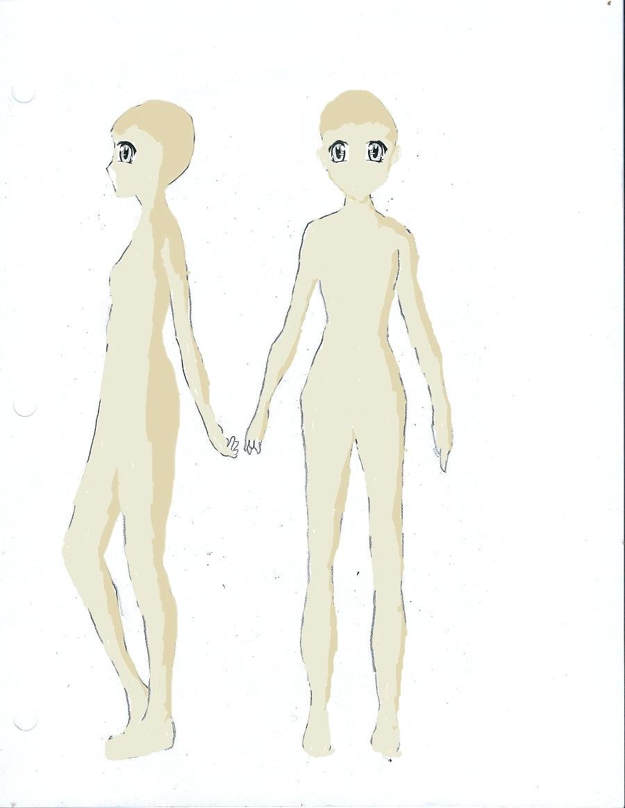 900x1163 Template Girl Drawing Template Female Body Side And Front Has