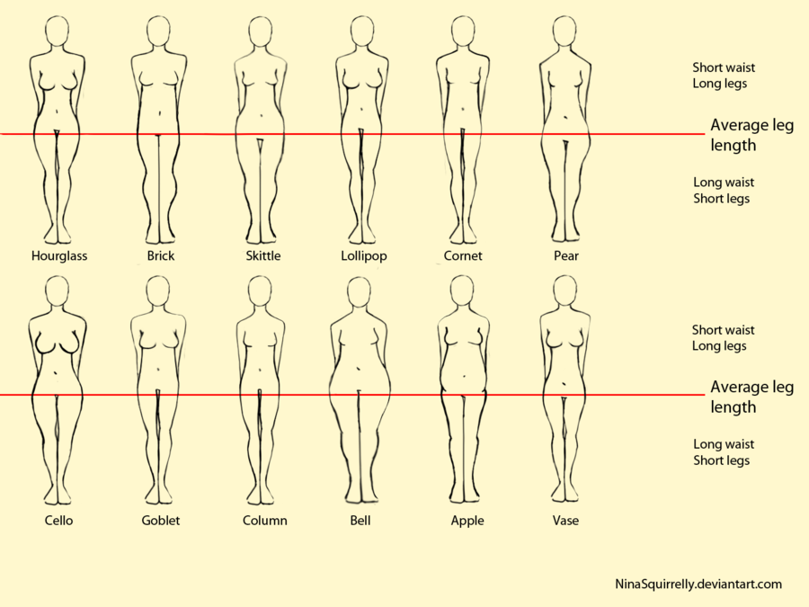 900x675 12 Realistic Woman Body Shape Chart By Ninasquirrelly