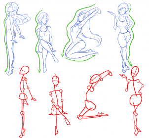 female body structure drawing at getdrawingscom free