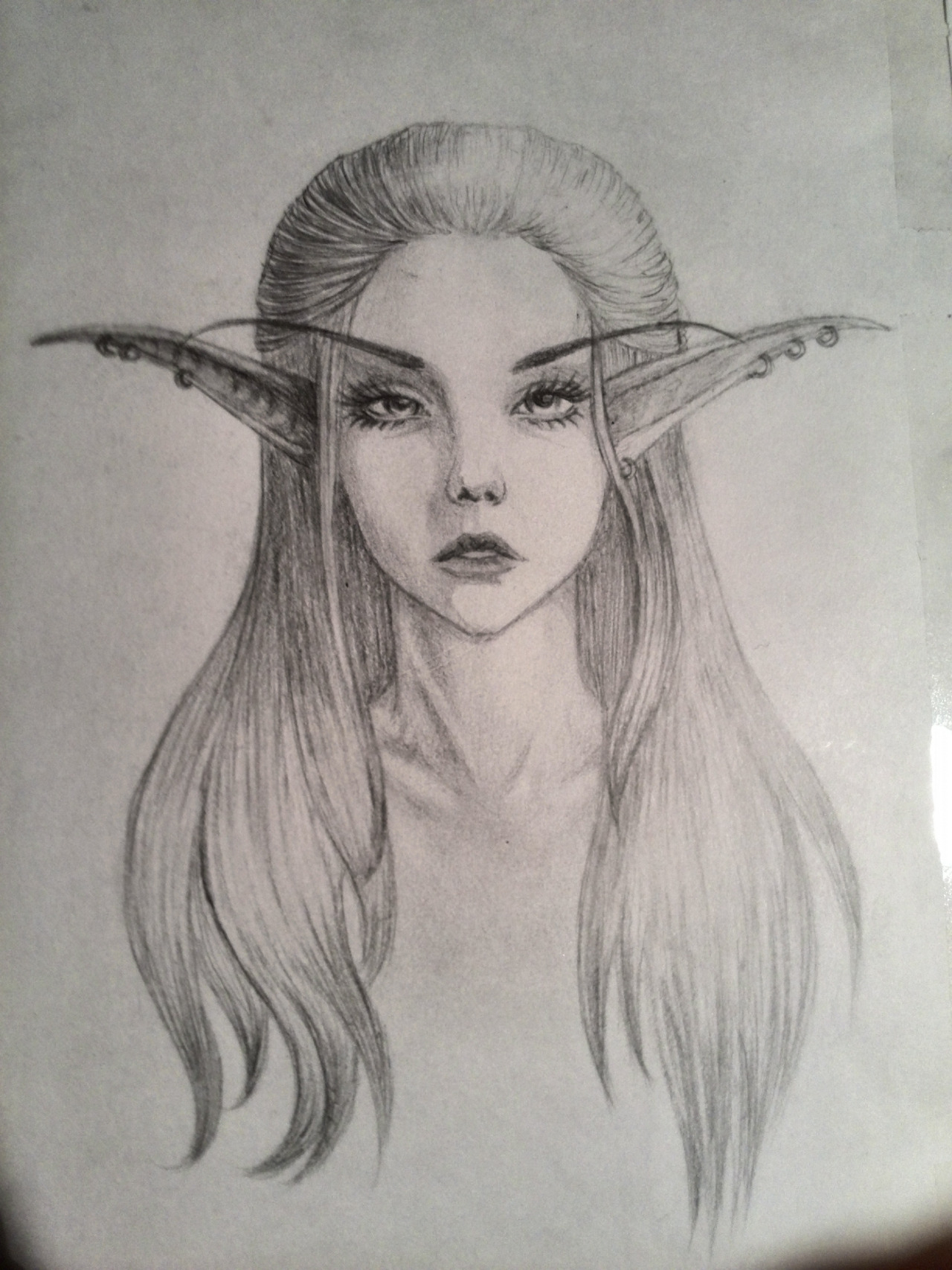 female elf drawing at getdrawings com free for personal use female