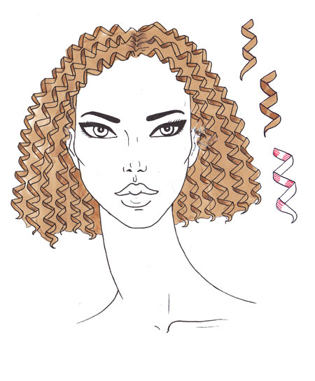 450x545 How To Draw Curly Hair I Draw Fashion