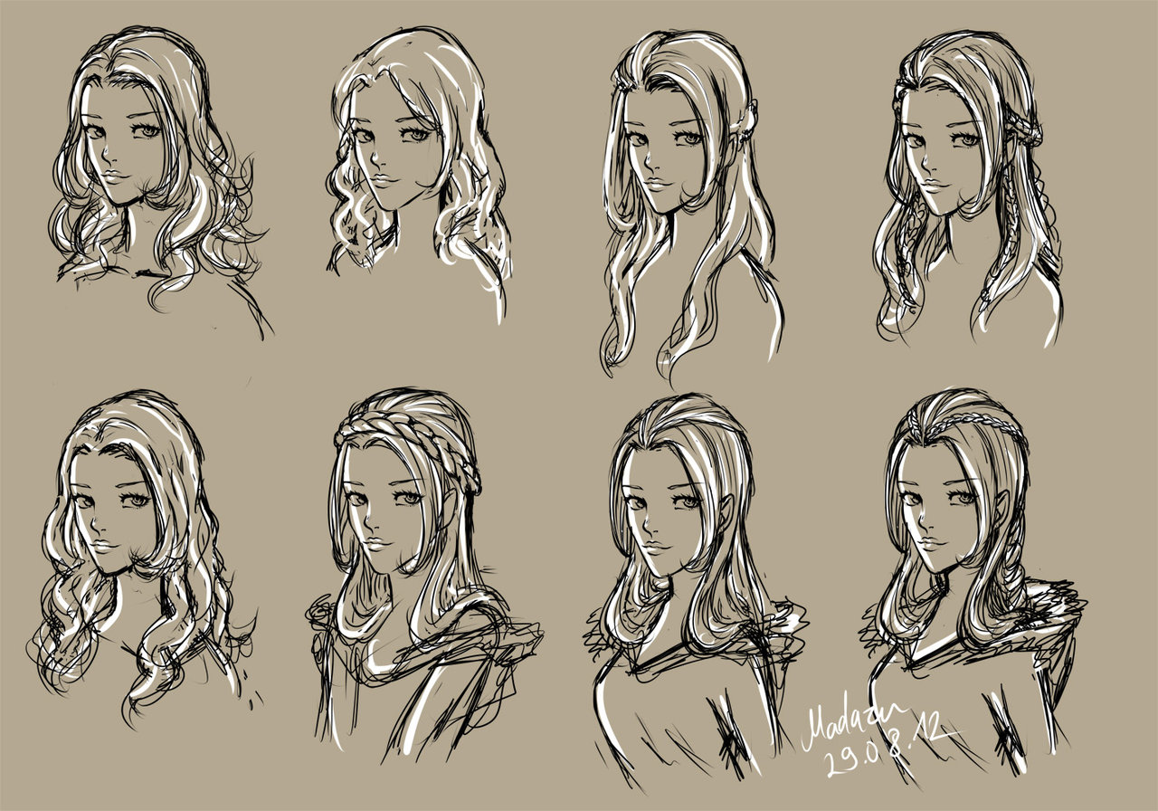 It's just a picture of Satisfactory Women Hair Drawing