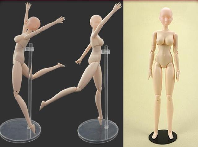 640x476 28cm Sketch Drawing Cartoon Mannequin Female Model Plastic Manikin