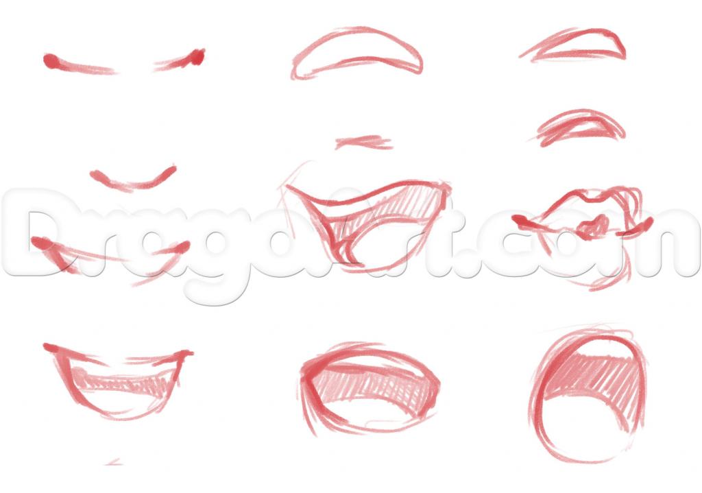 1024x719 Female Manga Mouth How To Draw Anime Girl Faces, Stepstep, Anime