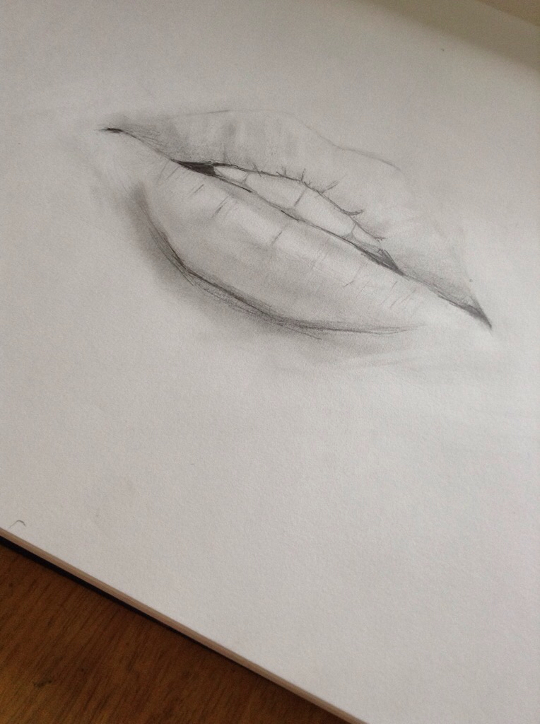 764x1024 Female Mouth Drawing