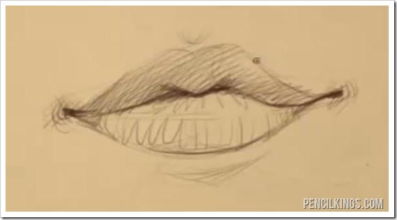 570x316 Female Mouth Drawing Example Doodling And Drawing