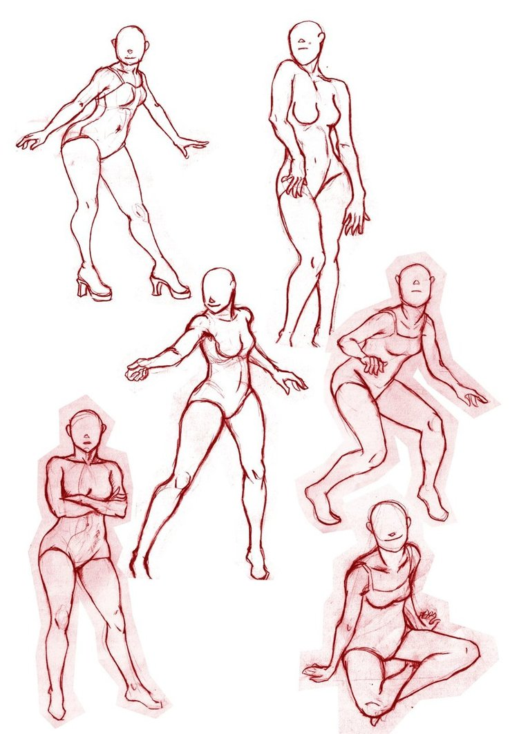 Female Poses For Drawing at GetDrawings com | Free for personal use