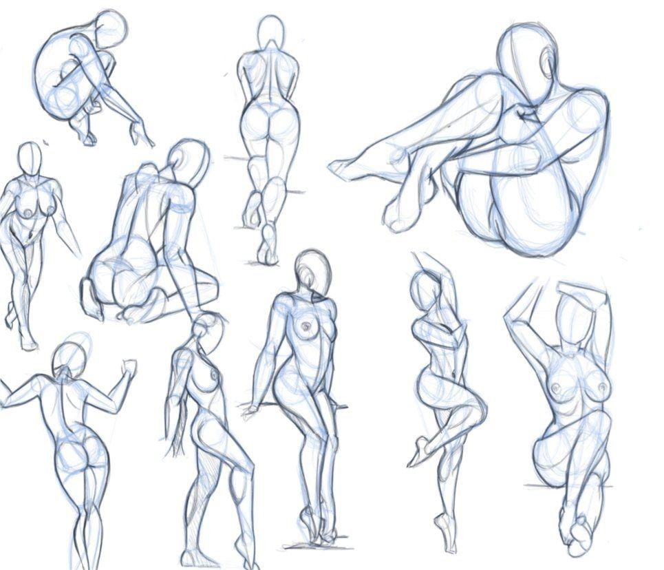 Female Poses For Drawing at GetDrawings.com | Free for personal use ...