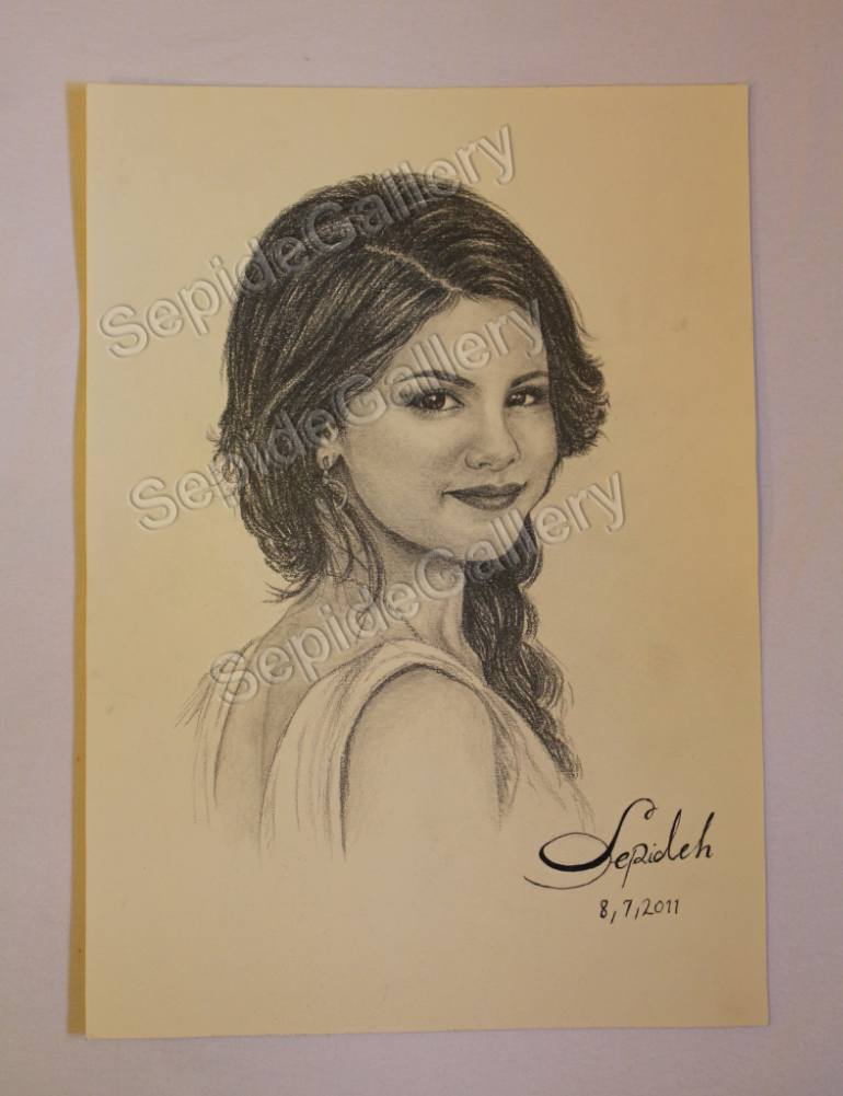 770x1001 Saatchi Art Selena Gomez, Nice Girl, Singer Drawing By Sepide Art