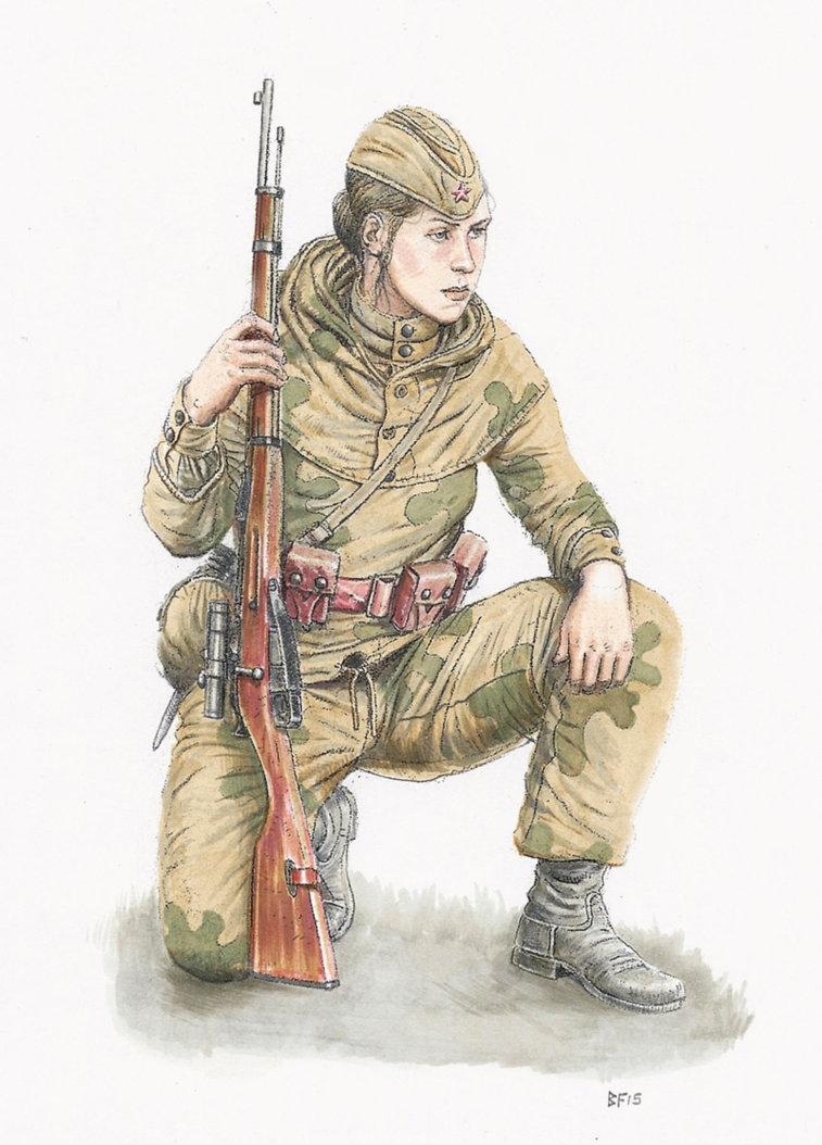757x1054 Female Sniper Summer 1943 By Jesusfood