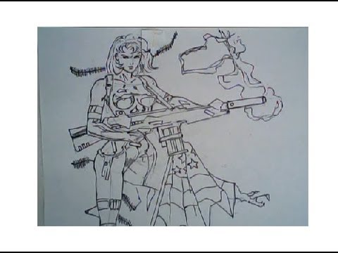 480x360 How To Draw A Female Soldier (Drawing Ep. 129)