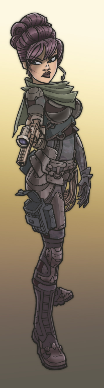 358x1332 Stylish Future Soldier Girl By Jimmymcwicked