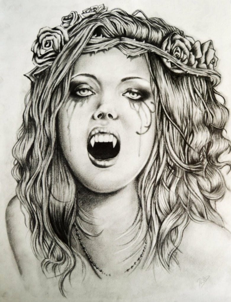 Female Vampire Drawing At Getdrawings Com Free For Personal Use