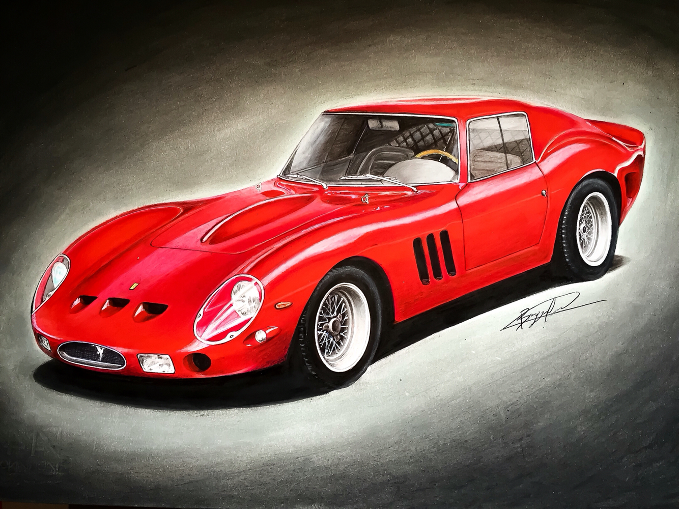 1334x1000 Ferrari 250 Gto Drawing Supercar By Filo Ferrari