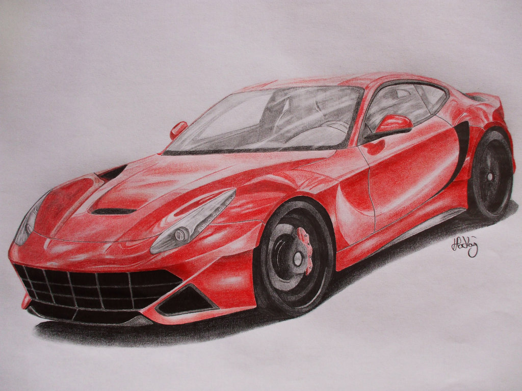 1024x768 Ferrari F12 Berlinetta By Mishoh