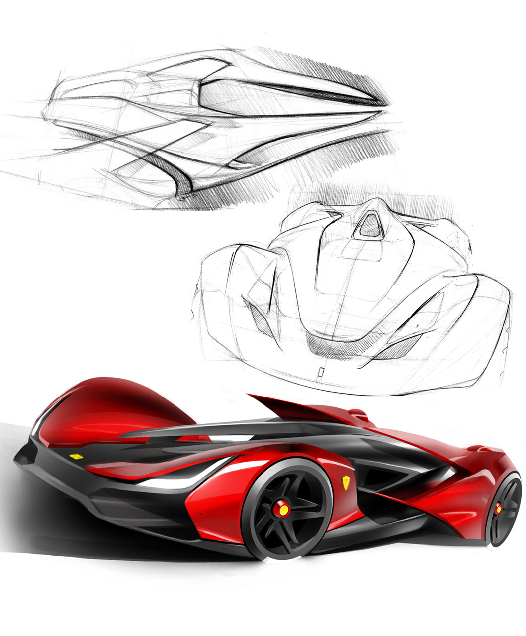 1058x1280 Ferrari Pegaso Design Sketches