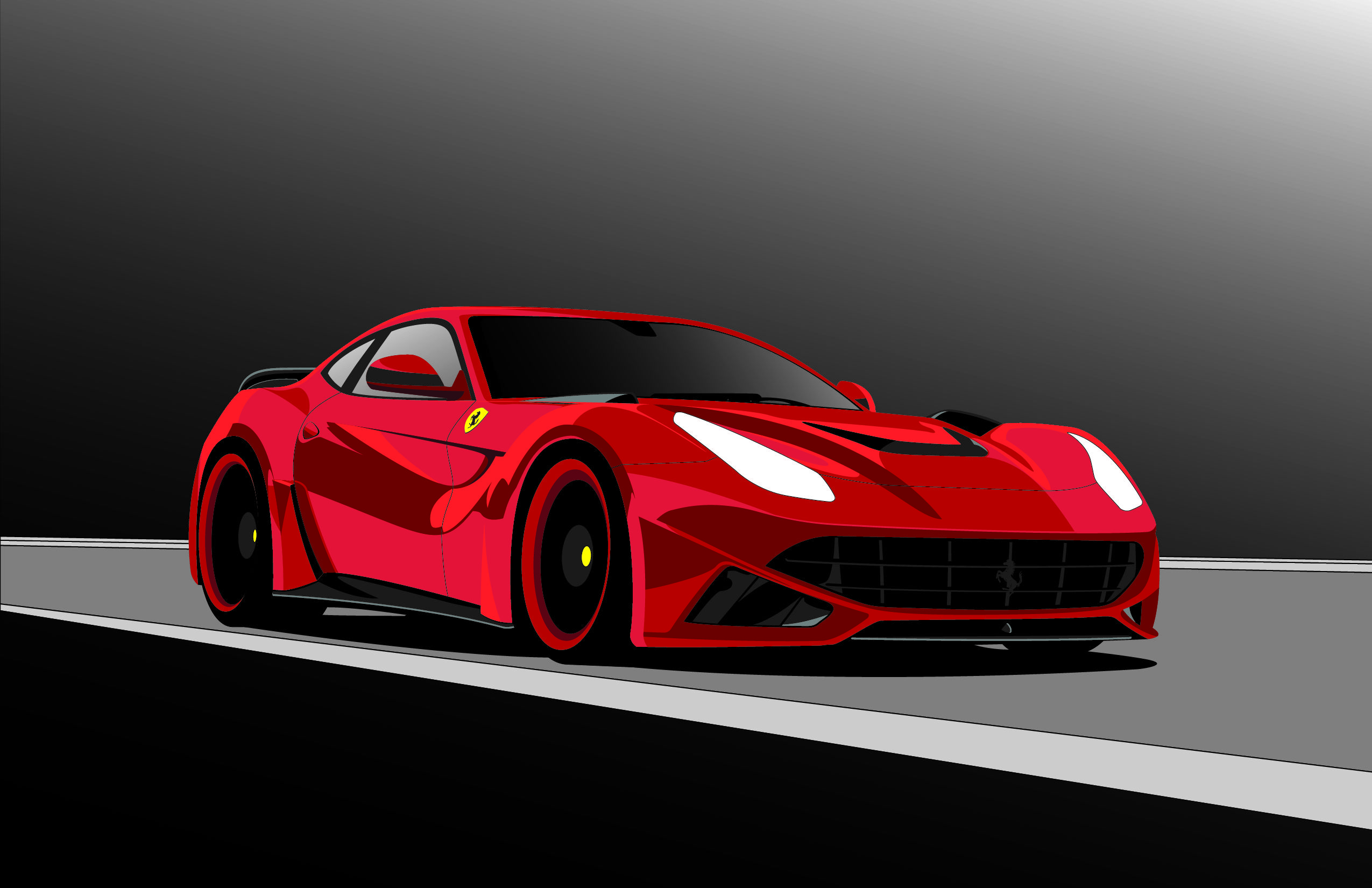 2550x1650 Ferrari Drawing Art Ferrari, Cars And Car Painting