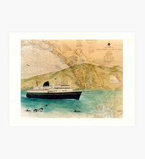 210x230 Ferry Boat Drawing Art Prints Redbubble
