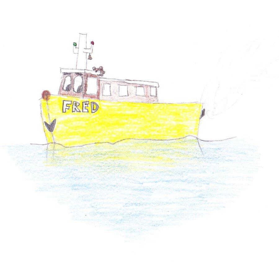 900x850 Ferry Boat Fred Drawing By Friscofan1998
