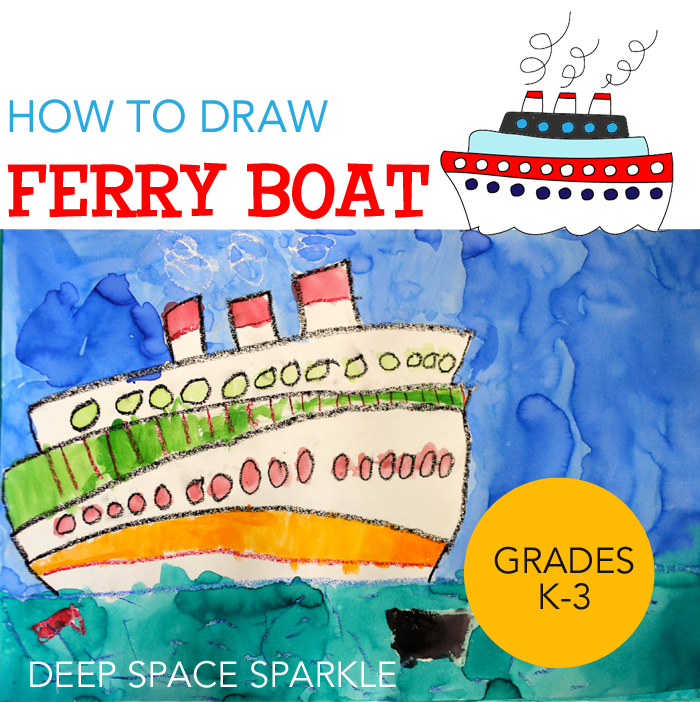 700x702 How To Draw Amp Paint Ferry Boats Deep Space Sparkle