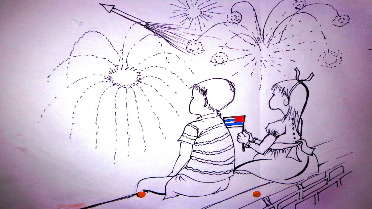 1280x720 Diwali Drawing For Kid Diwali Drawing Diwali Festival Drawing