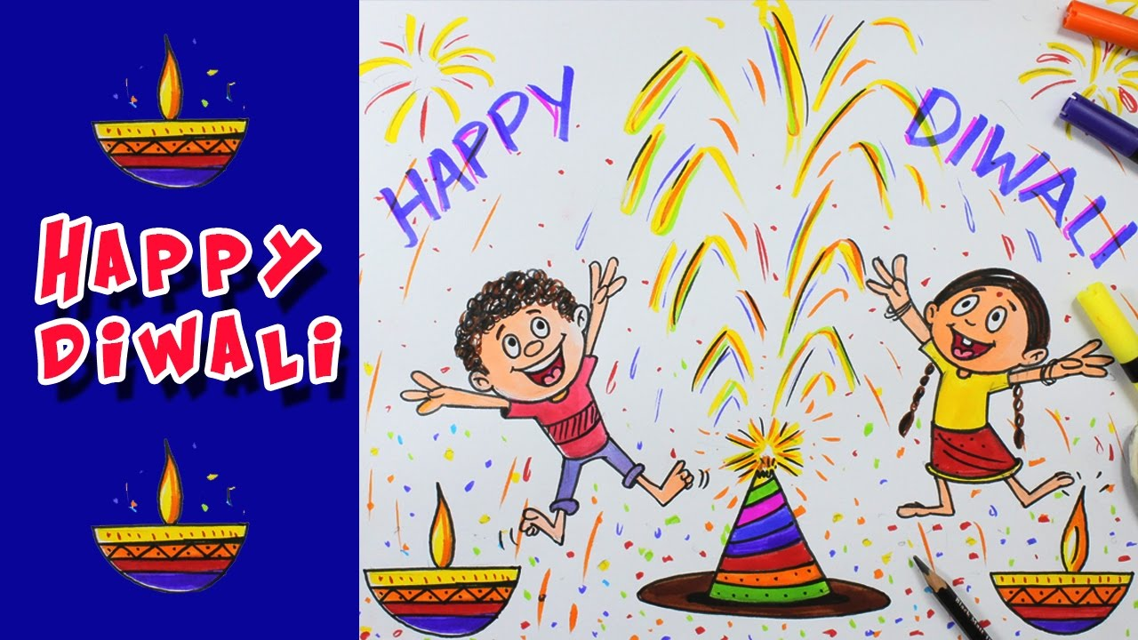 1280x720 Diwali Special Colour Drawing 2016