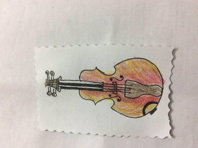 670x500 How To Draw A Violin 15 Steps With Pictures