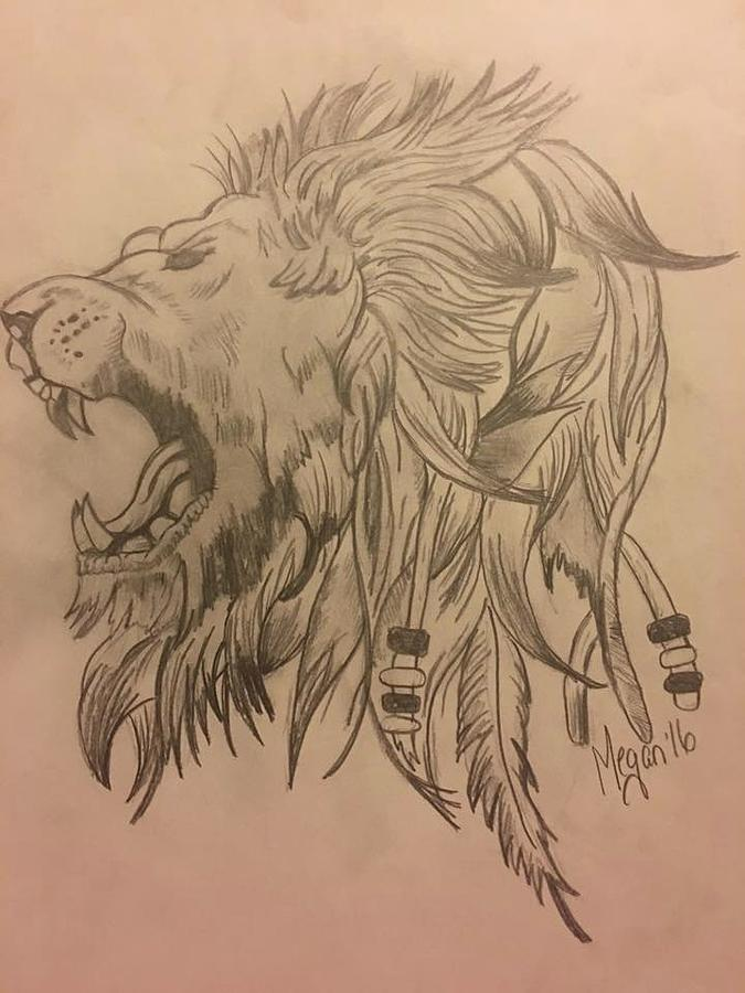 Fierce Lion Drawing at GetDrawings com | Free for personal