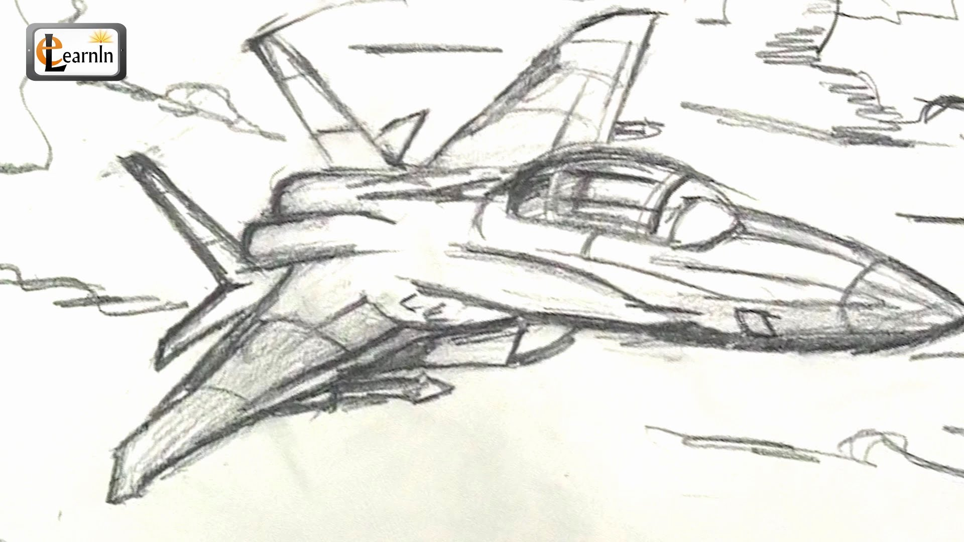 1920x1080 Art For Kids How To Draw A Jet Fighter Airplane Easy Step By
