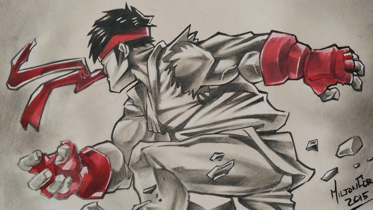 1280x720 Drawing Ryu