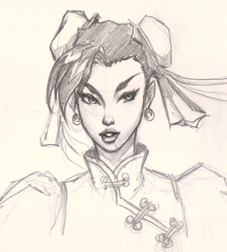 451x500 How To Draw Chun Li Face From Street Fighter