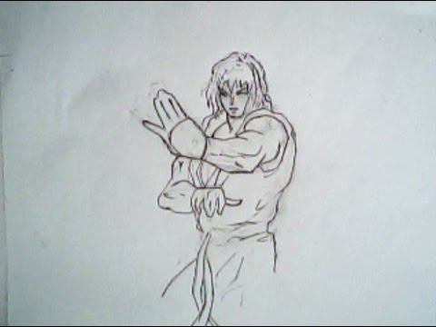 480x360 How To Draw Ken From Street Fighter 2 (Capcom)