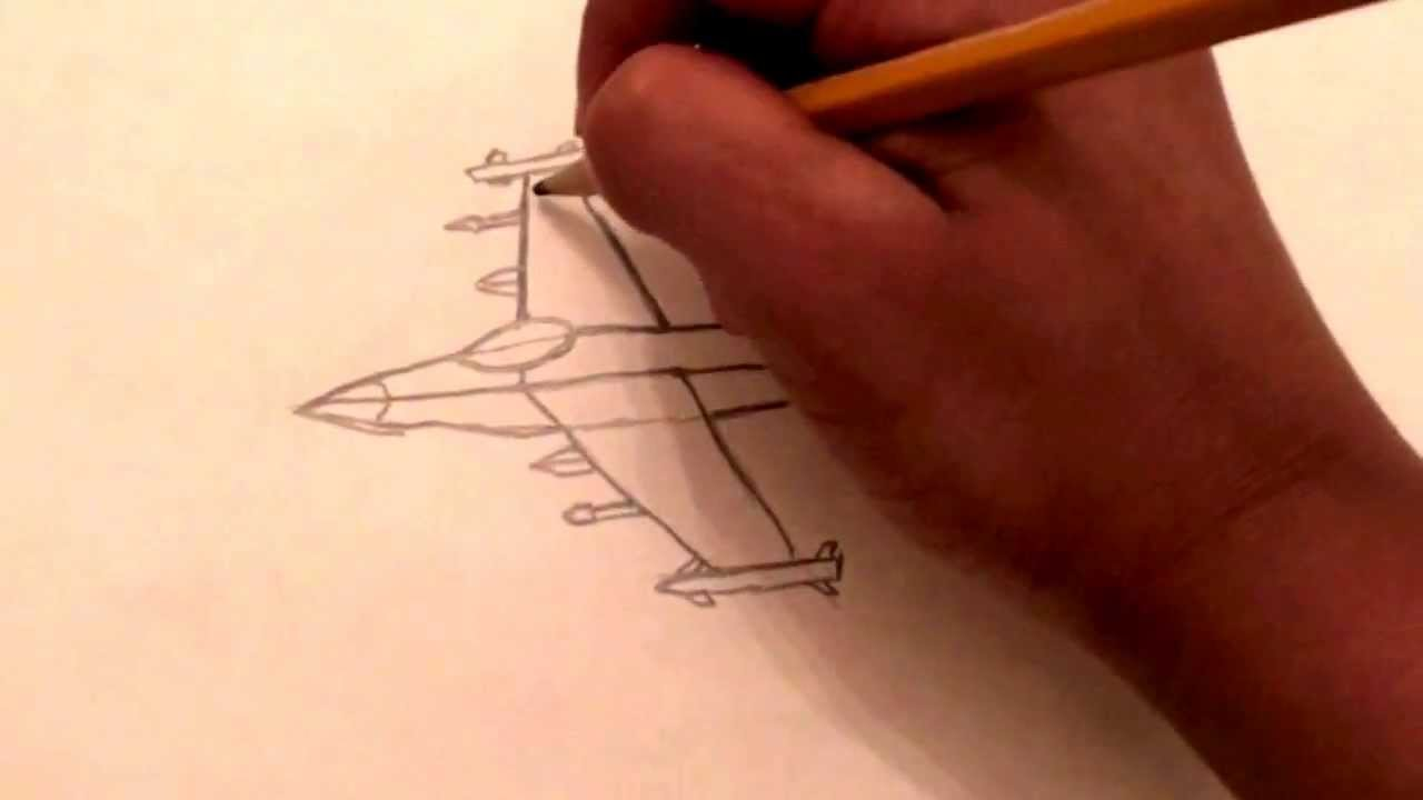1280x720 How To Draw A Fighter Jet