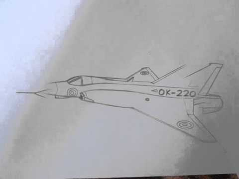 480x360 How To Draw Military Vehicles Saab J35 Draken Fighter Jet