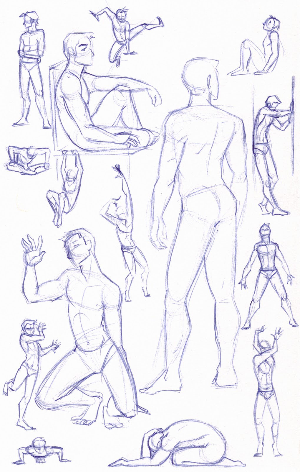 1019x1600 Figure Study Sketches (Male) By Kuabci