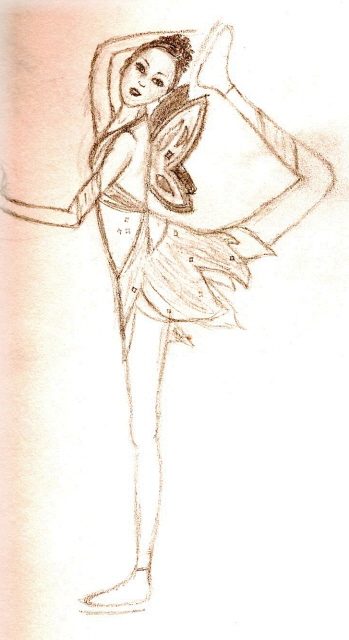 349x640 Ice Skating Drawings Ice Skating Fairy By Stephanie C. Dunstan
