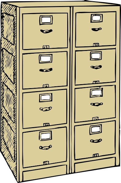 396x600 Double Drawer File Cabinet Clip Art Free Vector In Open Office