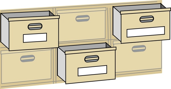 600x312 Furniture File Cabinet Drawers Clip Art Free Vector In Open Office