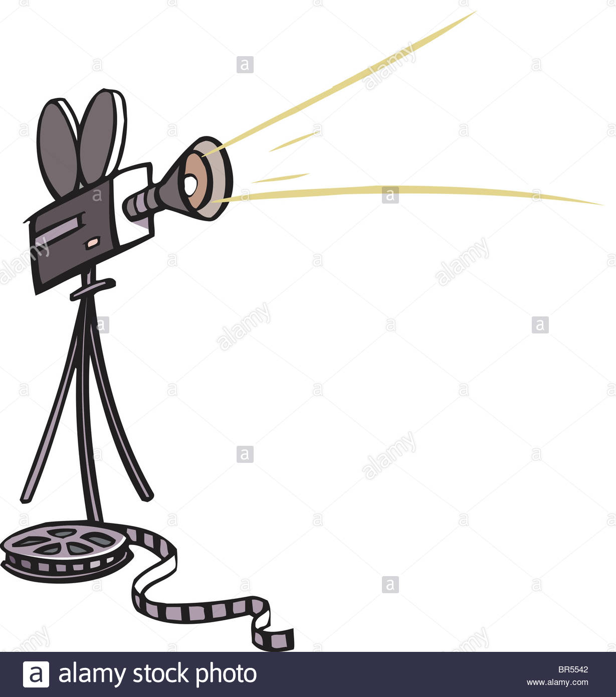 1229x1390 Drawing Of A Movie Camera And Film Stock Photo 31461250