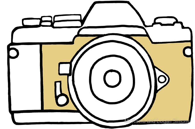 800x530 Yellow Film Camera Drawing Stickers By Simonsdesign Redbubble