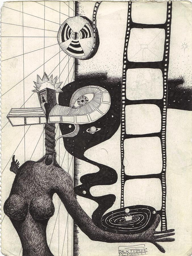 676x900 Film Strip Drawing By Geoffroy Dextraze