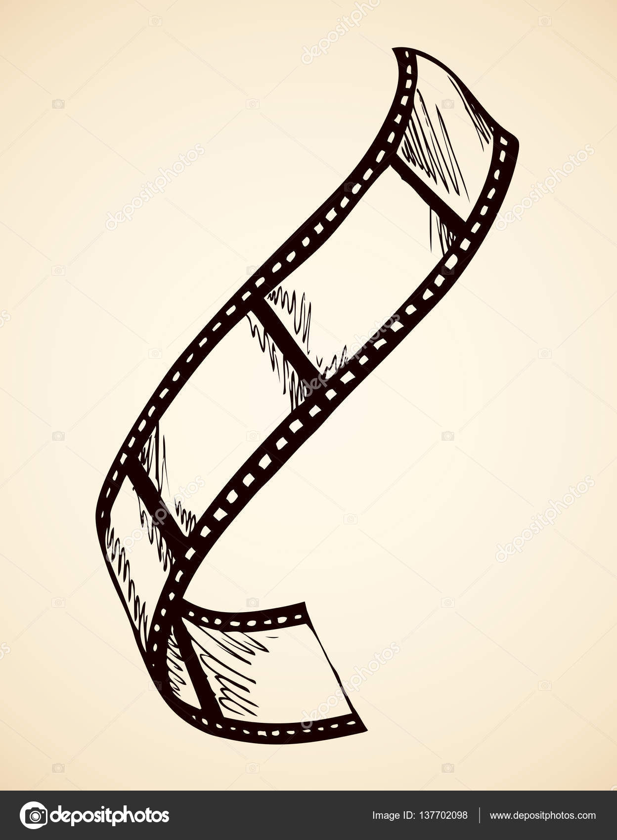 1248x1700 Film. Vector Drawing Stock Vector Marinka