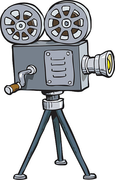 392x612 Old Movie Projector Clipart