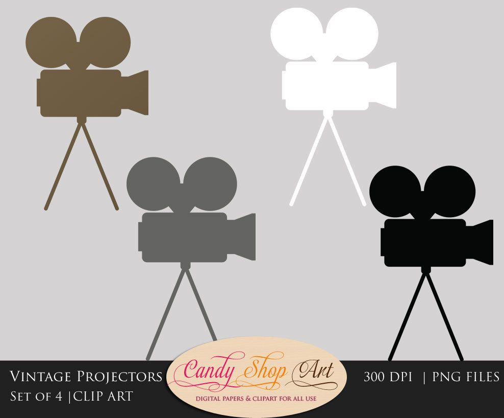 988x818 Vintage Movie Projector Clipart