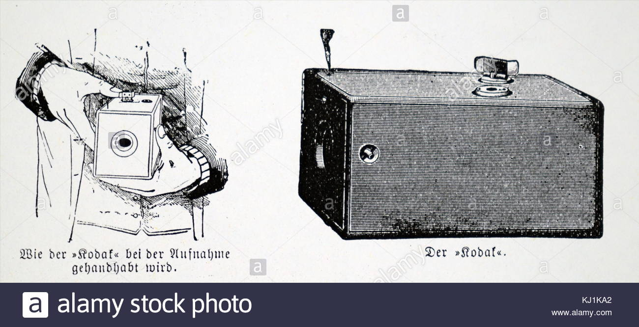 1300x666 Engraving Depicting A Kodak Box Which Used Eastman Negative Film